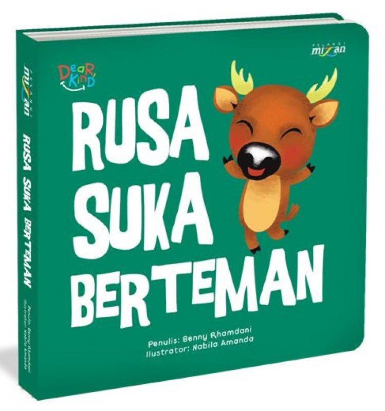 Cover Buku Seri Dear Kind: Rusa Suka Berteman (Board Book)