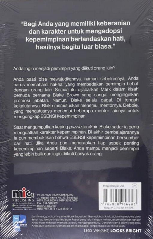 Cover Belakang Buku Heart of Leadership
