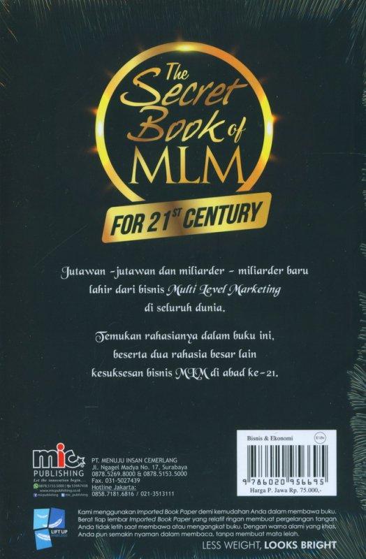 Cover Belakang Buku The Secret Book of MLM For 21ST Century Edisi Terbaru