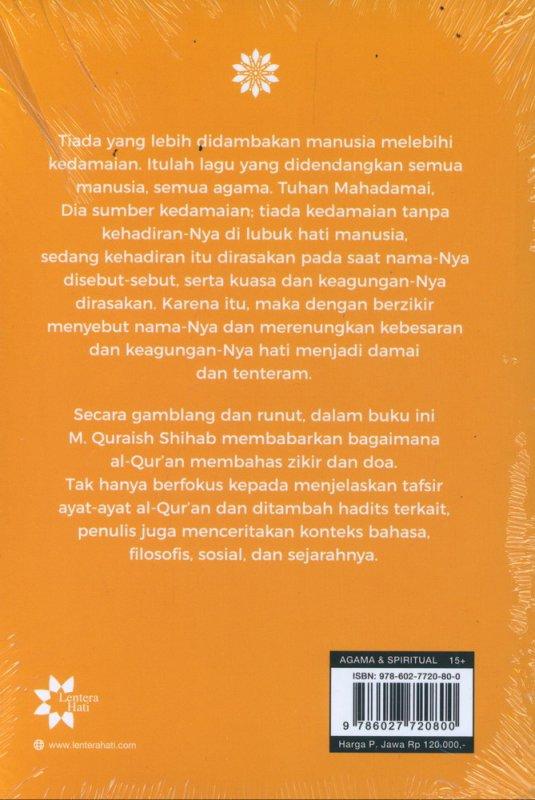 Cover Belakang Buku Wawasan Al-Quran tentang Doa dan Zikir