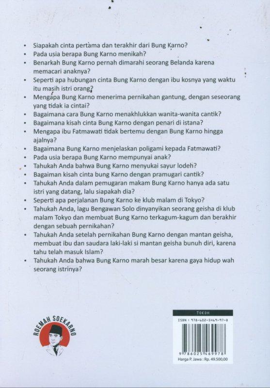Cover Belakang Buku Soekarno is a Great Lover - Kisah Cinta Sang Putra Fajar
