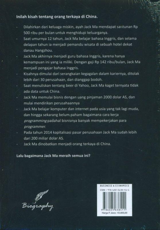 Cover Belakang Buku Membongkar Rahasia Kaya ala Jack Ma