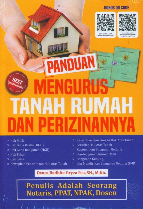 Cover Buku Panduan Mengurus Tanah Rumah dan Perizinannya