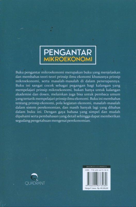 Cover Belakang Buku Pengantar Mikroekonomi