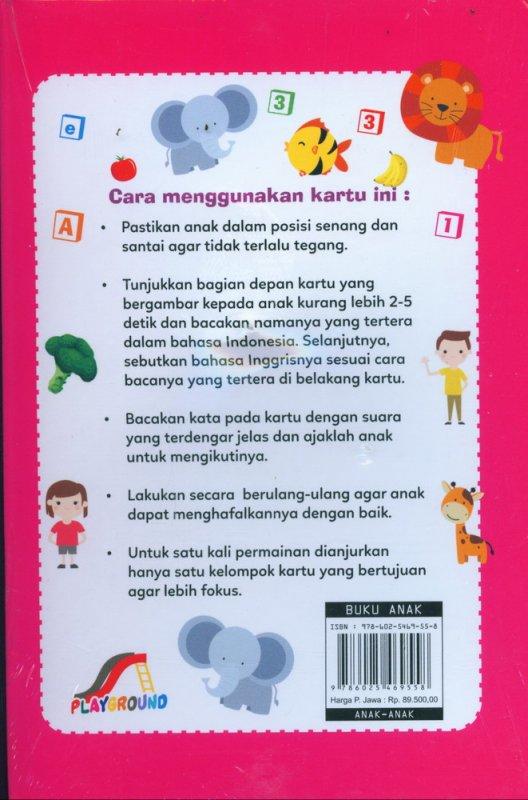 Cover Belakang Buku Kartu Anak Pintar Kosakata Sehari-hari (Bilingual Inggris-Indonesia)