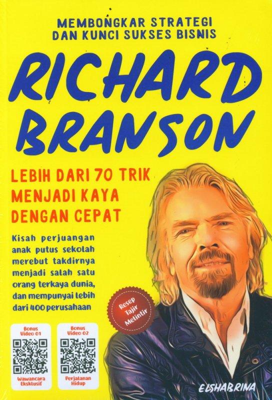 Cover Buku Membongkar Strategi dan Kunci Sukses Bisnis Richard Branson