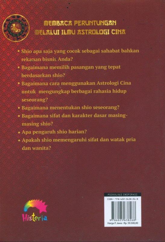 Cover Belakang Buku Membaca Peruntungan Melalui Ilmu Astrologi Cina