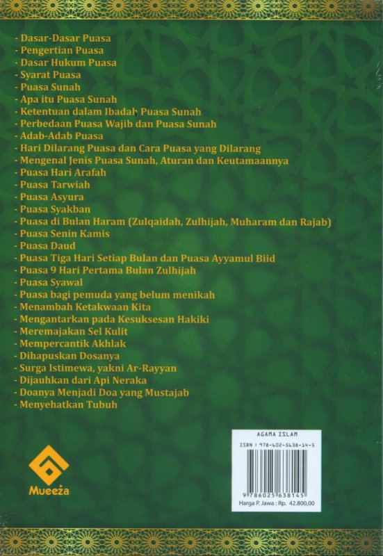 Cover Belakang Buku Keajaiban Puasa Sunnah (AHI)