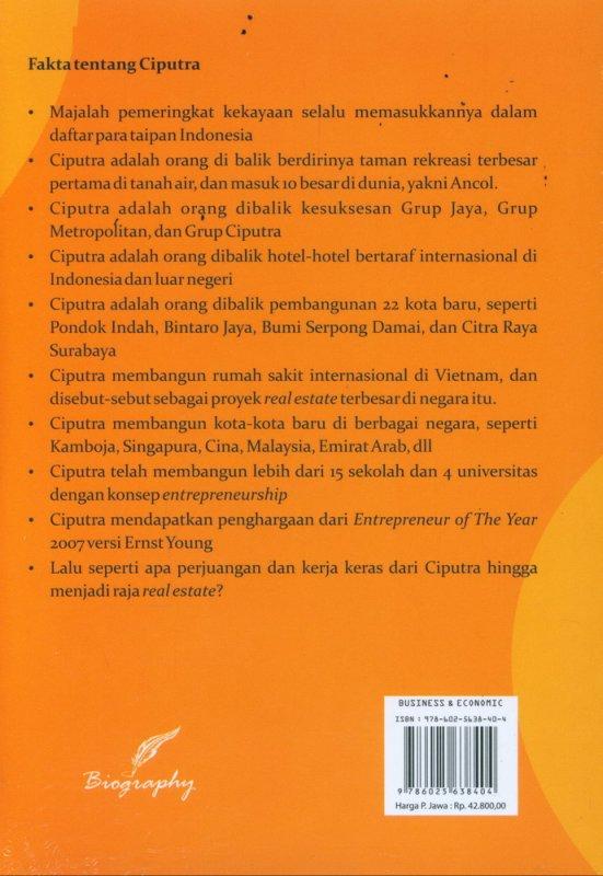 Cover Belakang Buku Resep Bisnis CIPUTRA Mengubah Kotoran dan Rongsokan Menjadi Emas
