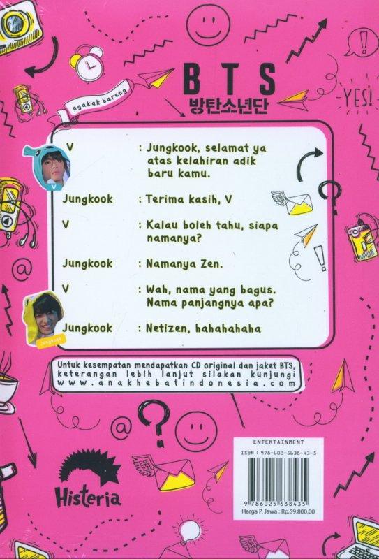 Cover Belakang Buku Ngakak Bareng BTS