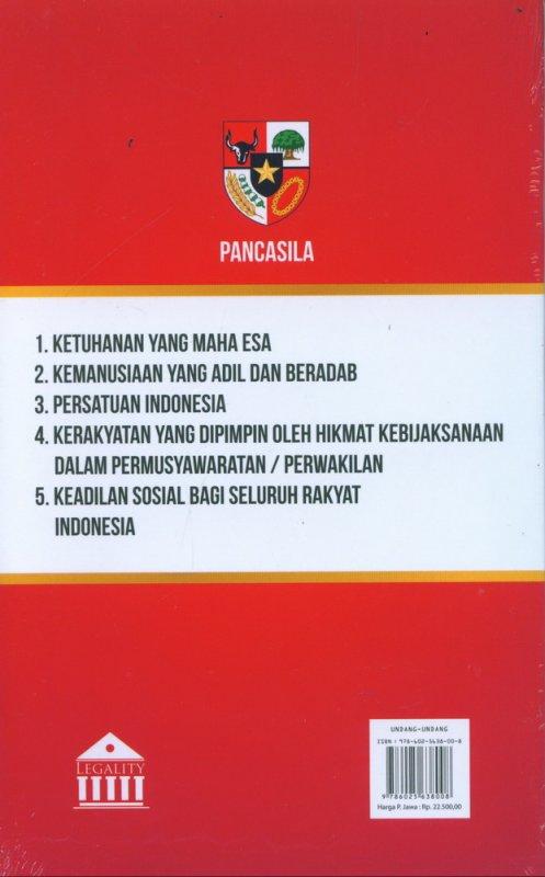 Cover Belakang Buku Amandemen UUD 1945 (AHI)