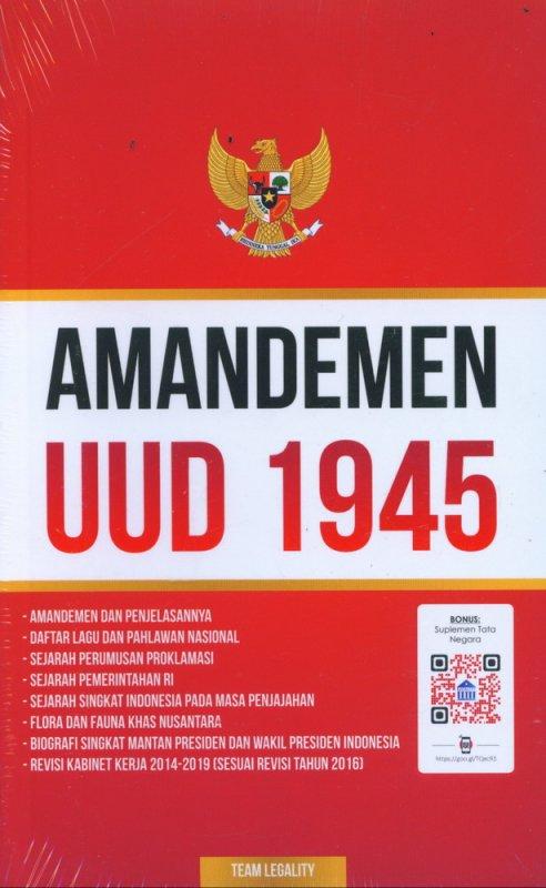 Cover Buku Amandemen UUD 1945 (AHI)