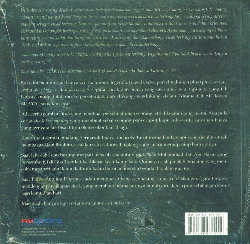 Cover Belakang Buku Cicak & Buaya