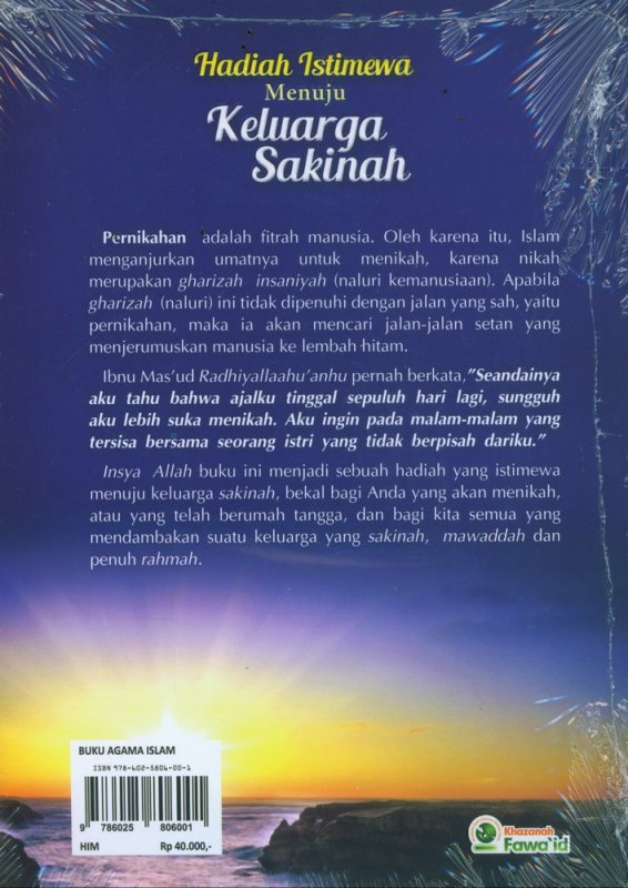 Cover Belakang Buku Hadiah Istimewa Menuju Keluarga Sakinah