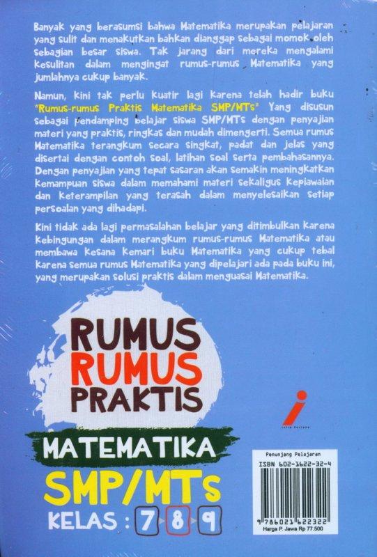 Cover Belakang Buku Rumus-Rumus Praktis MATEMATIKA SMP/MTs Kelas 7-8-9