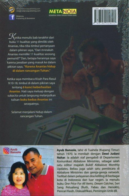 Cover Belakang Buku 6 Kunci keberhasilan Ananias (Seri Pemuridan)