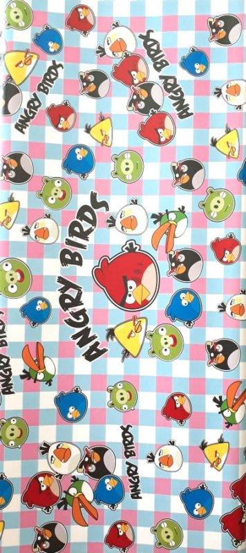 Cover Buku Bungkus Kertas Kado Motif Angry Birds 1