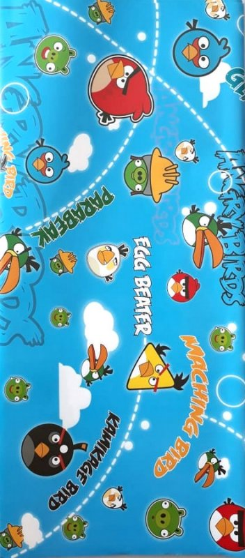 Cover Buku Bungkus Kertas Kado Motif Angry Birds 2