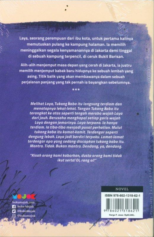 Cover Belakang Buku Jemput Terbawa sebuah novel