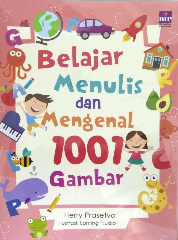 Cover Buku Belajar Menulis dan Mengenal 1001 Gambar