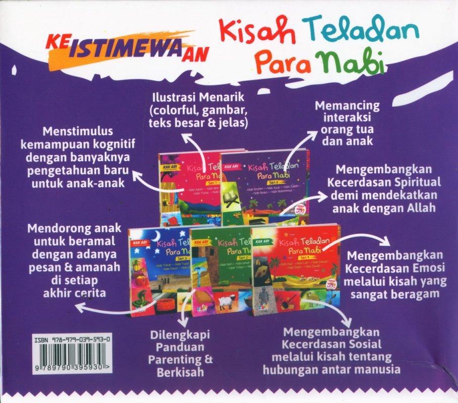 Cover Belakang Buku Kisah Teladan Para Nabi (Jilid 1-5)