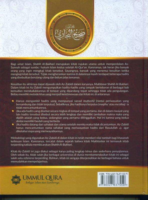 Cover Belakang Buku MUKHTASHAR SHAHIH BUKHARI (Hard Cover)