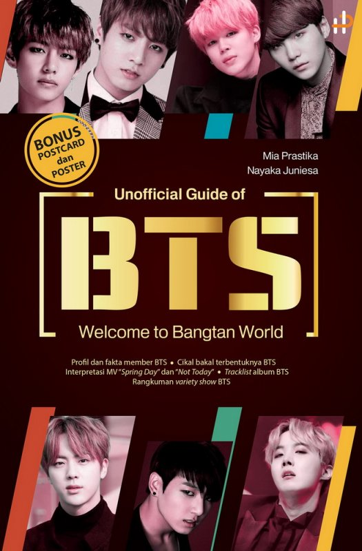 Cover Buku Unofficial Guide of BTS : Welcome To Bangtan World