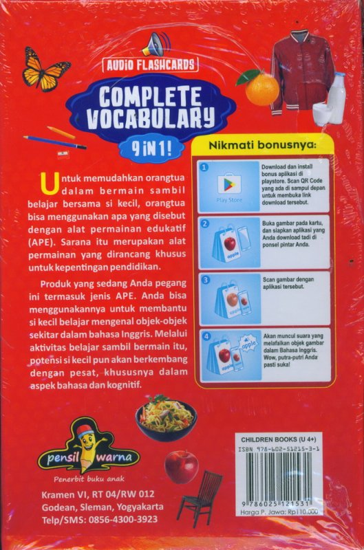 Cover Belakang Buku Complete Vocabulary 9 IN 1 [AUDIO FLASHCARDS]