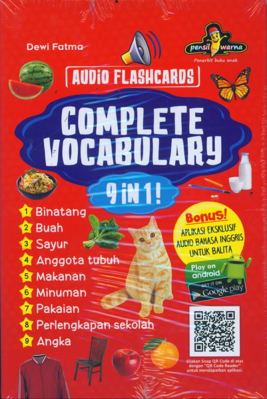 Cover Buku Complete Vocabulary 9 IN 1 [AUDIO FLASHCARDS]
