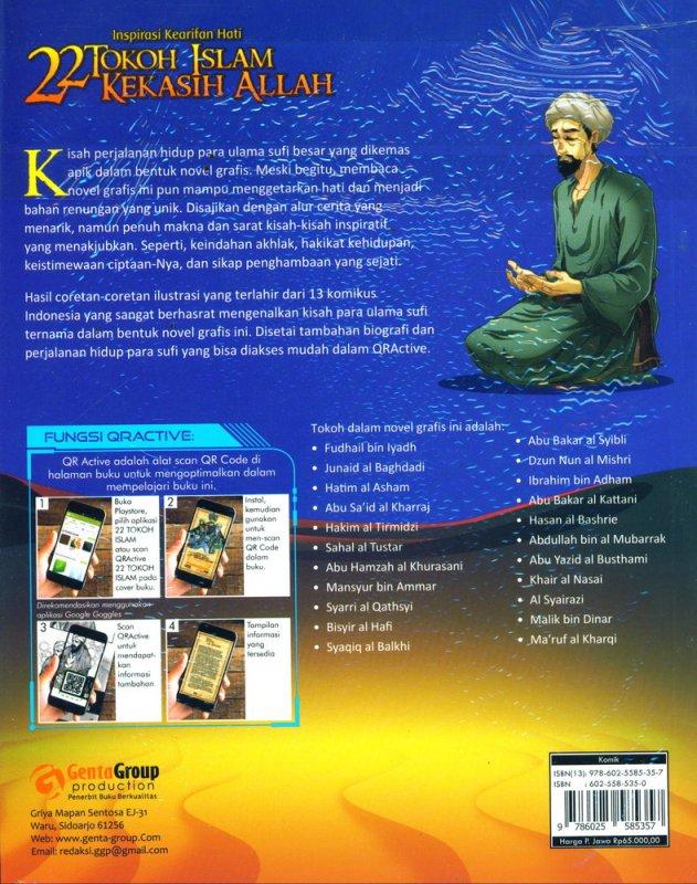 Cover Belakang Buku Inspirasi Kearifan Hati : 22 Tokoh Islam Kekasih Allah