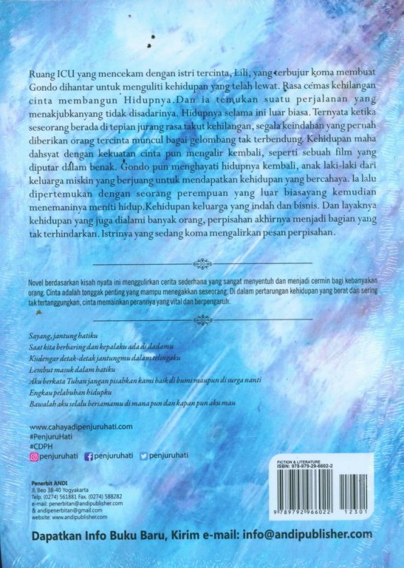 Cover Belakang Buku Cahaya Di Penjuru HATI - Based On True Story [Bonus: CD OST]