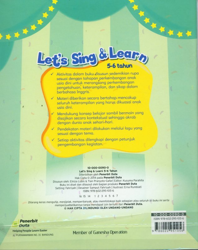 Cover Lets Sing & Learn (5-6 tahun)