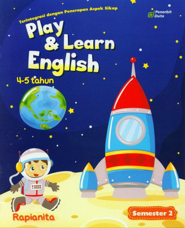 Cover Buku Play & Learn English 4-5 Tahun Semester 2