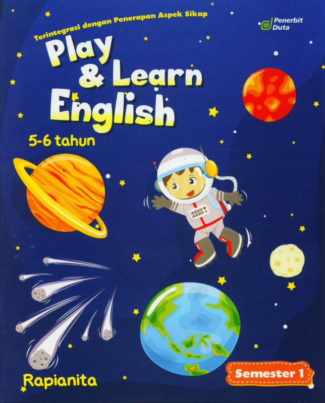 Cover Buku Play & Learn English 5-6 Tahun Semester 1