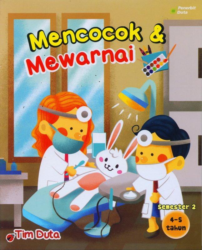 Cover Buku Mencocok & Mewarnai 4-5 Tahun Semester 2