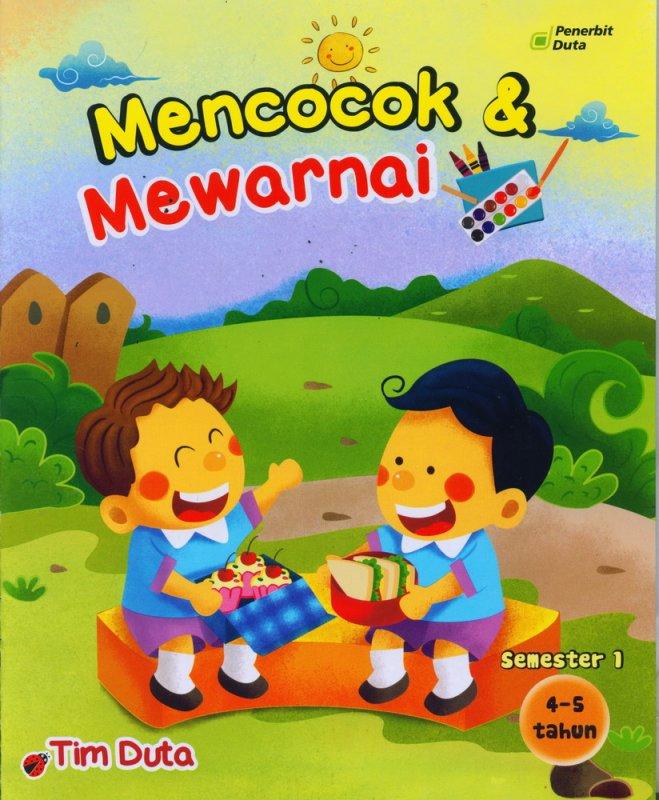Cover Buku Mencocok & Mewarnai 4-5 Tahun Semester 1