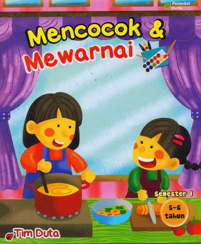 Cover Buku Mencocok & Mewarnai 5-6 Tahun Semester 1