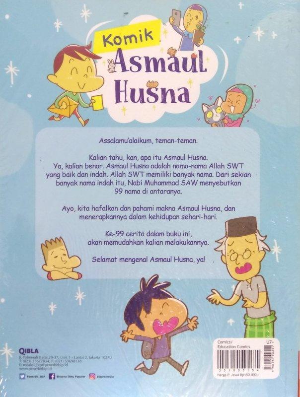 Cover Belakang Buku Komik Asmaul Husna : 99 Kisah Meneladani Asmaul Husna