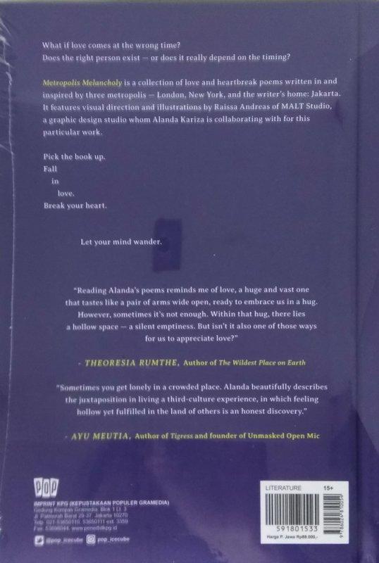 Cover Belakang Buku Metropolis Melancholy