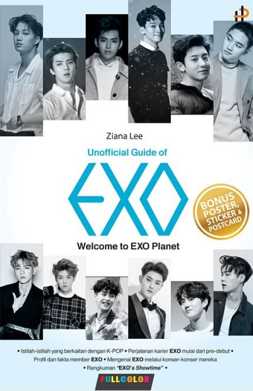 Cover Buku Unofficial Guide Of Exo : Welcome To EXO Planet [post card + poster + stiker] Pre-order
