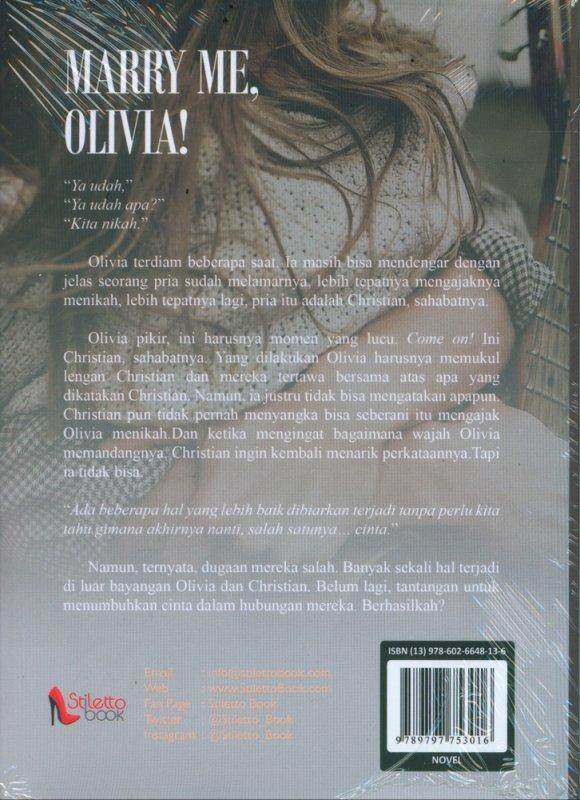 Cover Belakang Buku Marry Me Olivia (Promo Best Book)