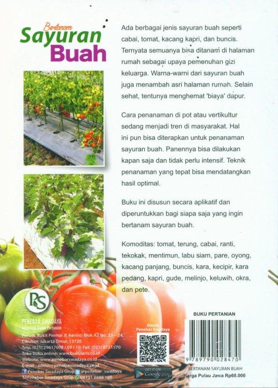 Cover Belakang Buku Bertanam Sayuran Buah