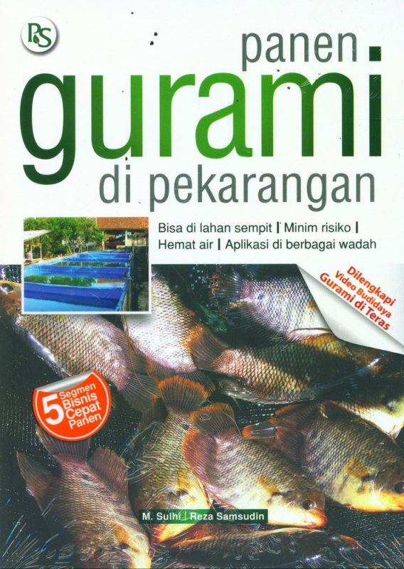 Cover Buku Panen Gurami di Pekarangan