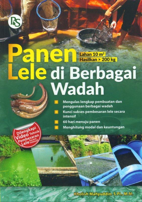 Cover Buku Panen Lele di Berbagai Wadah
