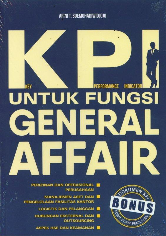 Cover Buku KPI Untuk Fungsi General Affair