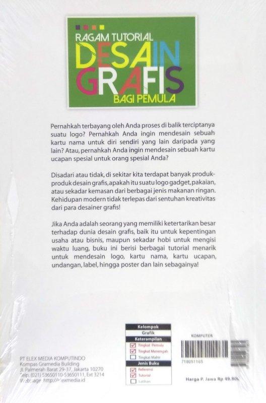 Cover Belakang Buku Ragam Tutorial Desain Grafis bagi Pemula