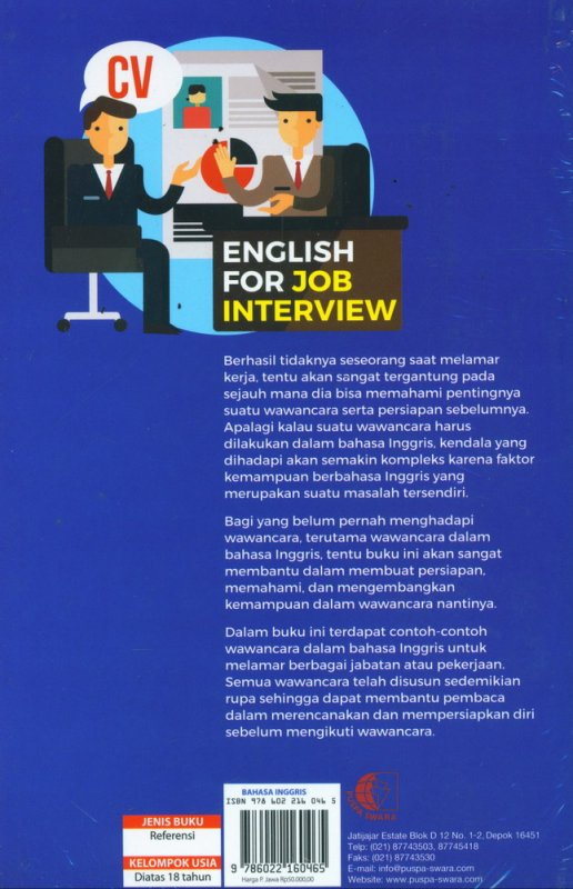 Cover Belakang Buku English For Job Interview