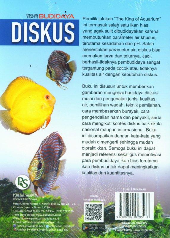 Cover Belakang Buku Panduan Praktis Budidaya DISKUS
