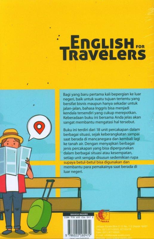 Cover Belakang Buku English For Travelers