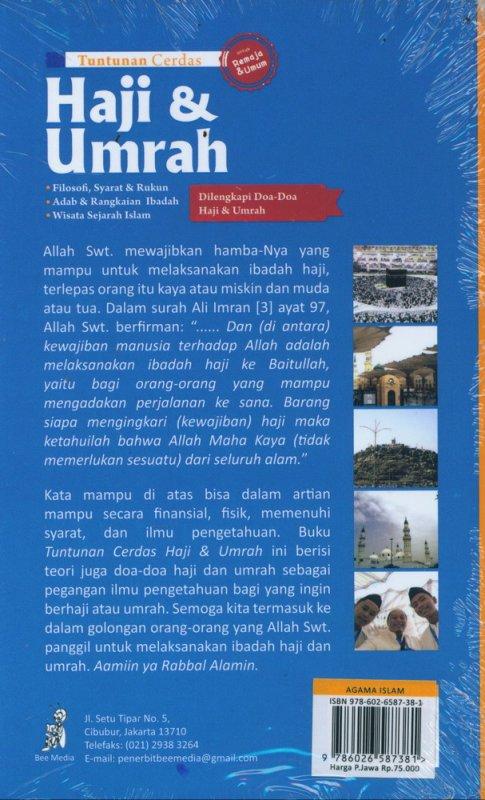 Cover Belakang Buku Tuntunan Cerdas Haji & Umrah